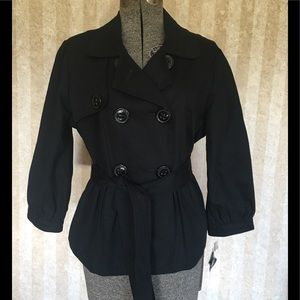 Apt.9 black belted jacket