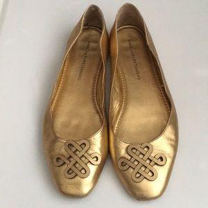Gold Diane Von Furstenberg Flats