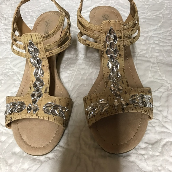 43720e9be4 Jaclyn Smith Shoes | Womans Edina Wedge Sandalneutral | Poshmark