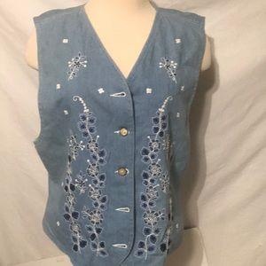 Jackets & Blazers - Lizwear Women's embroiled vest size L