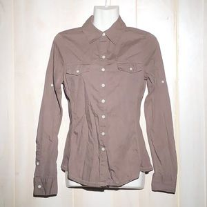 Converse One Star button down long sleeve brown xs