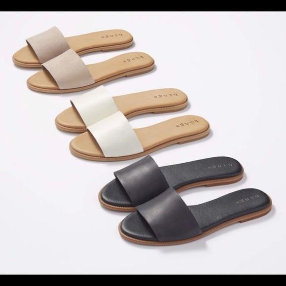 ac41f2a29 hinge Shoes - Hinge  Mere  Flat Slide Sandal BLACK