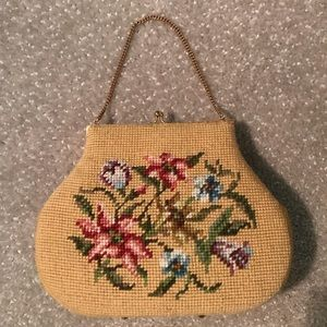 Vintage Needle Point Evening Bag