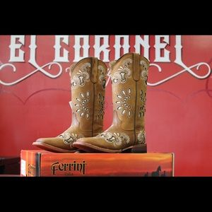 Ferrini Shoes - Ferrini ladies Masquerade s-toe western boot
