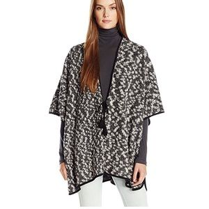 Lucky Brand black and white poncho