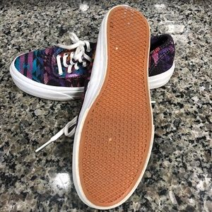 b0c883c9d9 Vans Shoes - Vans Era Inca Black and Pink Tribal Print