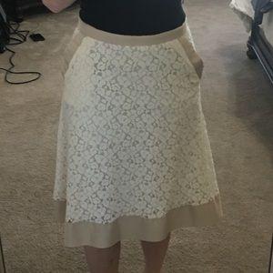 Isaac Mizrahi below the knee A-line skirt