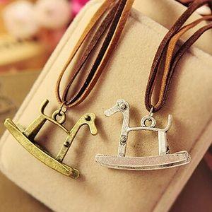 Jewelry - Unique Horse Necklace Suede Boho