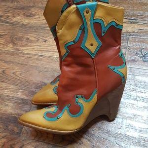 BCBG Boho Western Boots