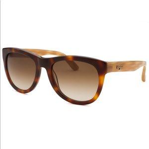 Salvatore Ferragamo Brown Havana Sunglasses