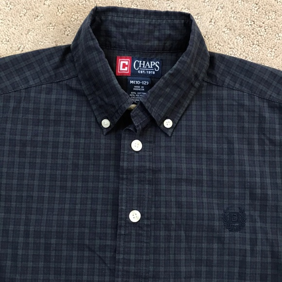 Chaps Shirts Tops Nwot Ls Button Down Dress Shirt Boys 1012