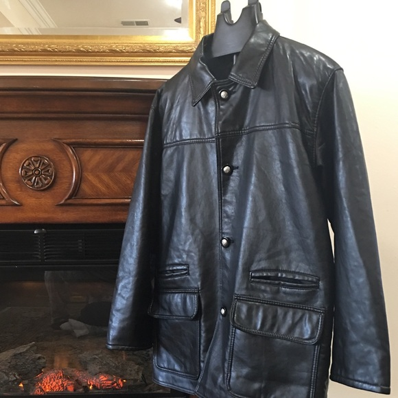 14c2b54e2cdd8 Gianni Versace Other - BLACK LEATHER MENS JACKET GV HAND MADE IN ITALY