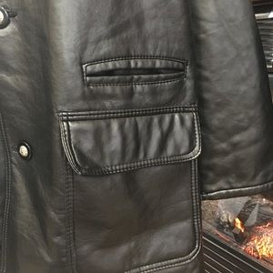 91fb7a1e11530 Gianni Versace Jackets   Coats - BLACK LEATHER MENS JACKET GV HAND MADE IN  ITALY