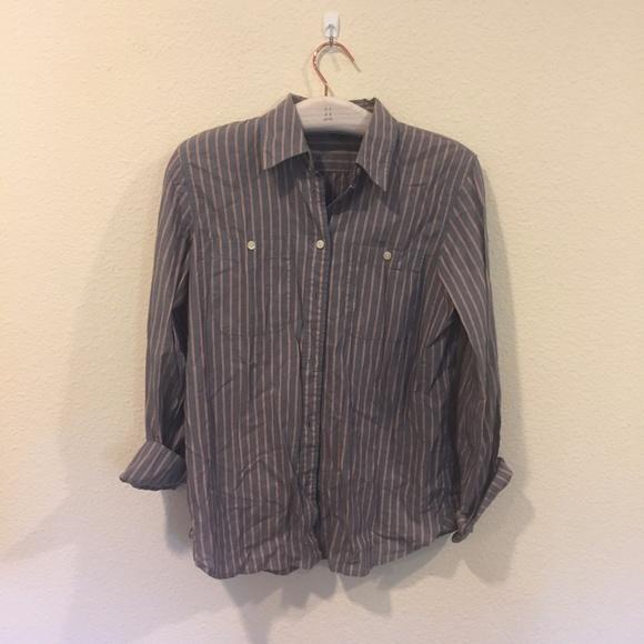 Lauren Jeans Co. Tops - Lauren Jeans Co. button up striped shirt
