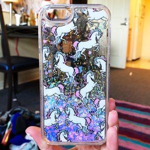 ஐ iphone6 glittery unicorn phone case
