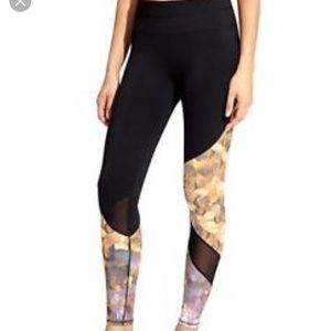 Athleta Asymmetrical Mesh Sonar Leggings