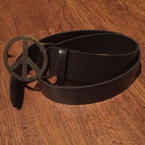 Accessories - Peace Sign Belt