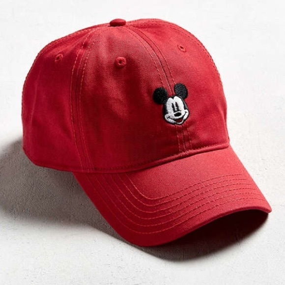 SALE Red Mickey Mouse Disney Dad Hat Baseball cap c6772fa4f017