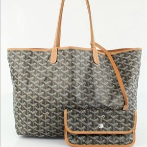 Goyard St Louis PM Black/Brown Tote Shopper