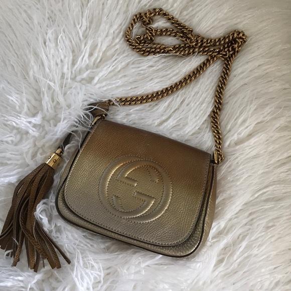 42d01afc19cc Gucci Handbags - Gucci Soho Chain Crossbody Ombré Bag