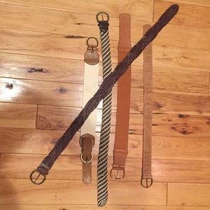 Collection of 5 different Forever 21 belts