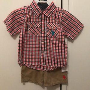 US Polo Assn Toddler boy set.
