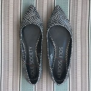 Leather flats sole society