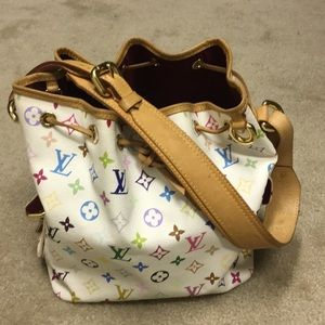 1d2b78e0073f Louis Vuitton Bags - Louis Vuitton Petit Noe Multicolor Blanc