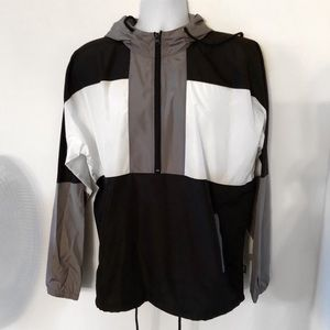 Black and White Color Block Jacket