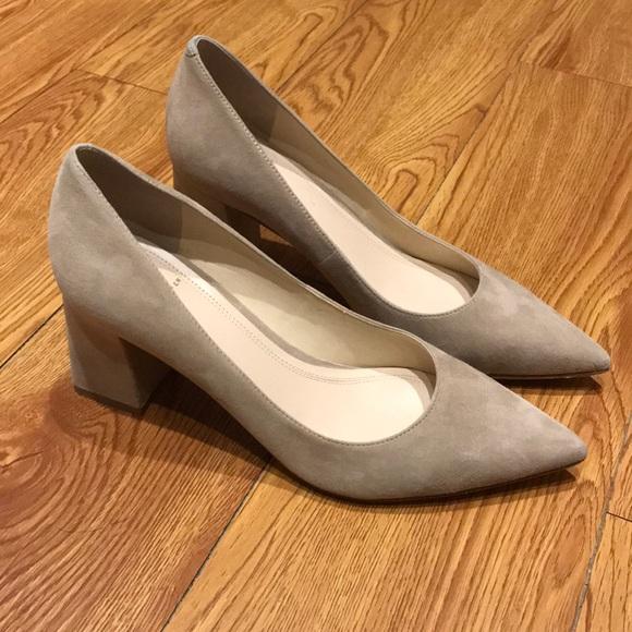 c7f757cf16d Marc Fisher Zala suede block heels size 7 1 2. M 5a1b5e46fbf6f9c99b08ffdb