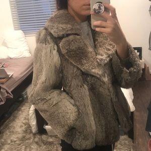 Vintage authentic rabbit fur jacket