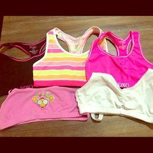 Children's bras set of 5