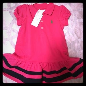 Polo baby girl dress nwt