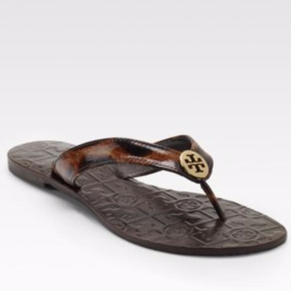 6994c8e57b1 Tory Burch THORA Leopard Print Leather Sandals. M 5a1b67ca3c6f9f84e7095c92