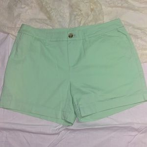 Faded Glory mint green brushed denim shorts Sz 8.