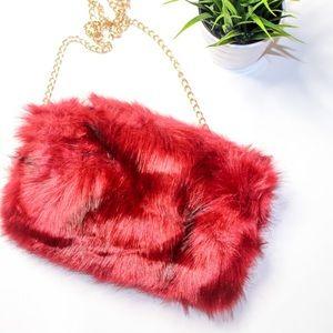 Handbags - FLASH DEAL‼️ | new | red fur bae bag