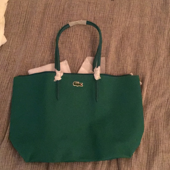 50fe00736cf3 Lacoste Handbags - Brand new Lacoste Kelly green tote