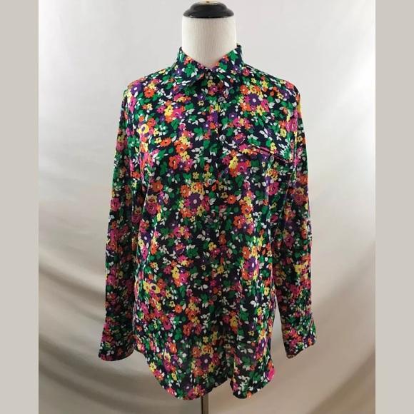 b6a8f6556 Lauren Ralph Lauren Tops - Lauren Ralph Lauren Floral Button Down Shirt