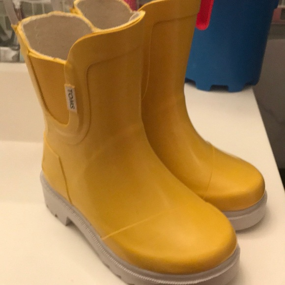 Toms Shoes Yellow Rain Boots Size T7 Poshmark
