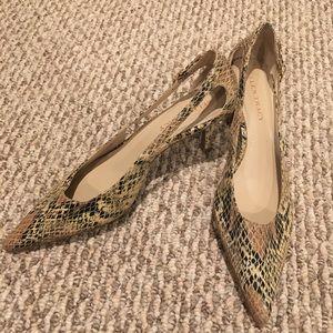 Ellen Tracy snakeskin kitten heel