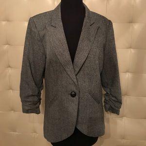 Gray tweed blazer