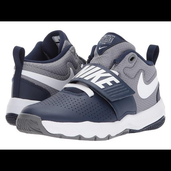 Nike Team Hustle boys sneaker 3 3Y shoes blue gray