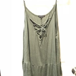 Olive Lace-Up Cami