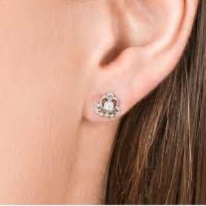 d34834b1aeacc PANDORA My Princess Tiara Stud Earrings, Clear CZ