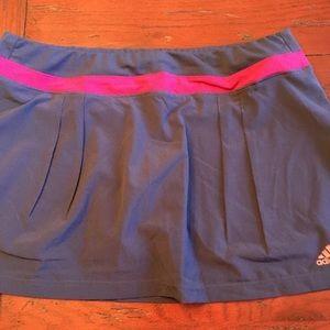 NWT graphite Gray Adidas tennis skirt sz L