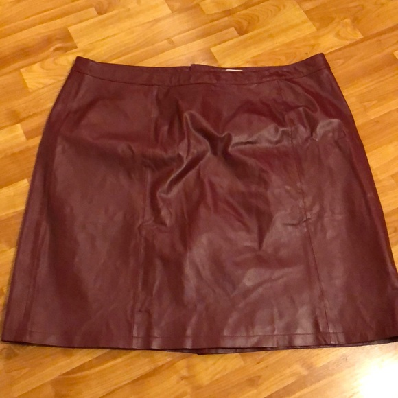0a7d1cba1cd Jessica London Plus Size Leather Skirt
