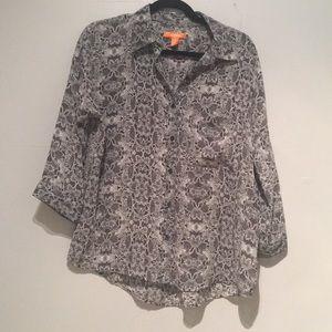 Joe Fresh Lace pattern Button Down