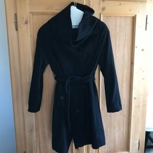 Black EMU Australia wool coat, small