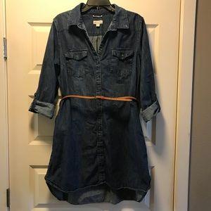 Merona Denim Shirt Dress with Belt