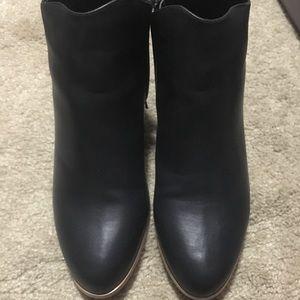Black Modcloth booties, never worn.